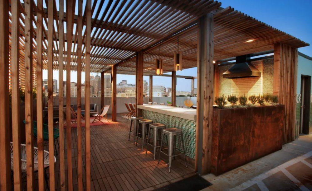 San Antonio apartment rooftop bar and lounge